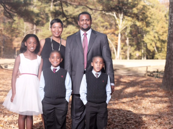 Members of the Devaul family include, from left, Madison, Kenisha, Joshua, Driscoll and Matthew.