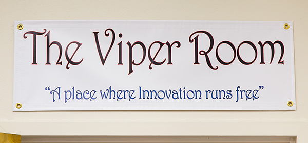 The Viper Room at UMMC Grenada is a safe zone where employees can brainstorm and put their best ideas forward.
