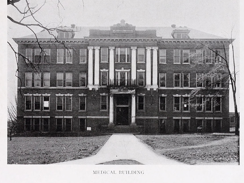 "The University of Mississippi School of Medicine ""Medical Building,"" as depicted in the 1917 yearbook."