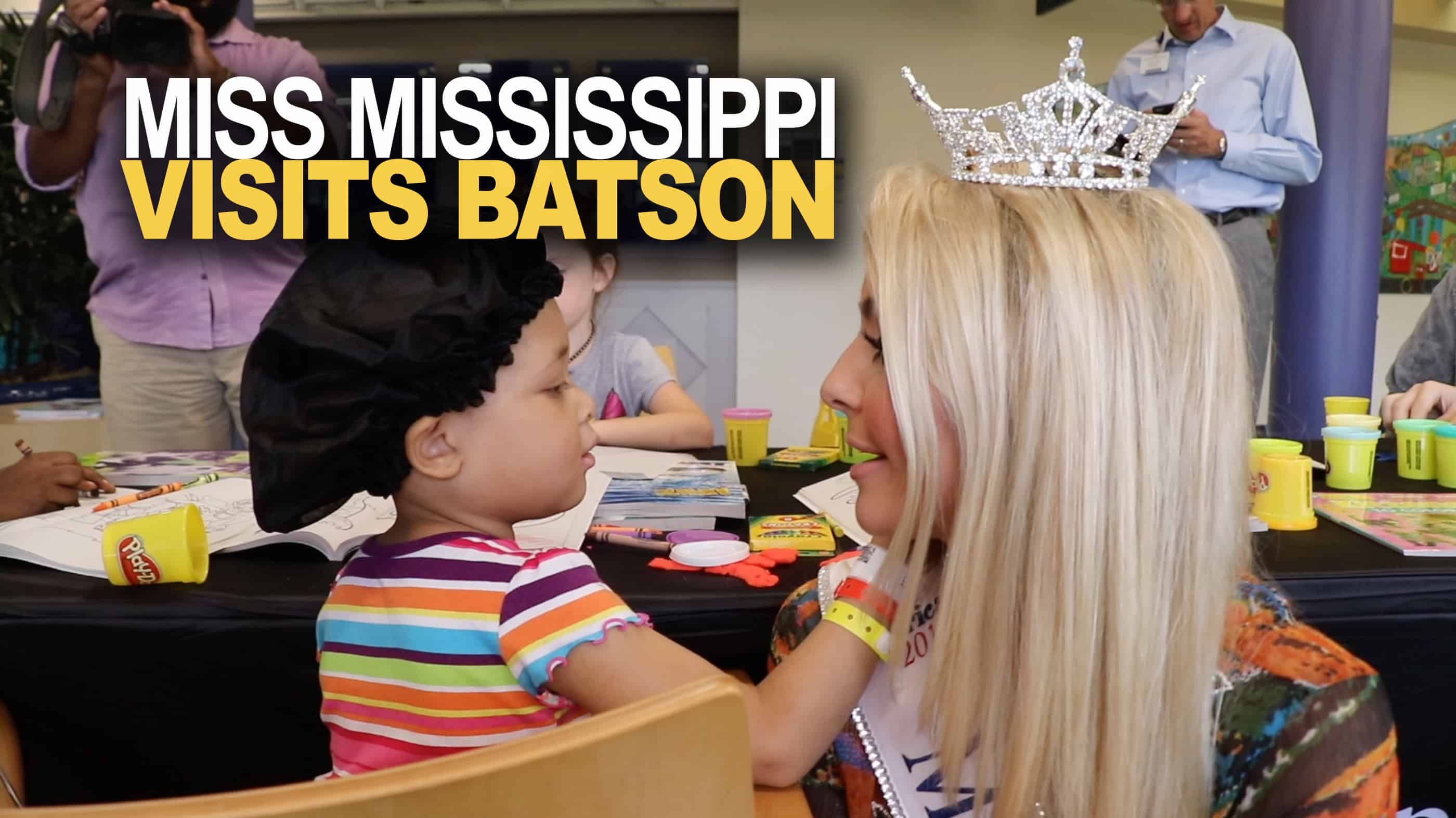 Video: Miss Mississippi gets creative in first visit with Batson patients
