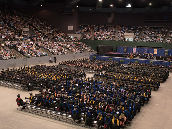 About 690 students in the Class of 2017 attended commencement ceremonies. A total 971 students graduated this spring.