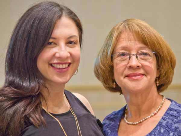 Milan's mother,  Alba Ruth Restrepo, right, was able to attend the senior honors banquet on May 12 where Milan was awarded the Academy of Dentistry International Student Servant Leadership Award for meritorious servant leadership and volunteerism.