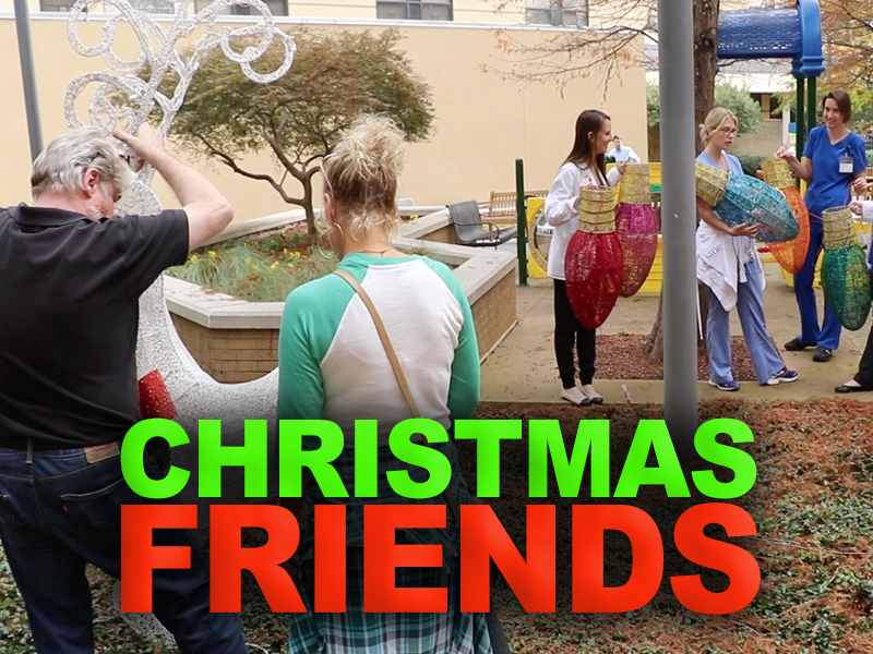 Video: Friends decks halls in Batson, Wiser hospitals