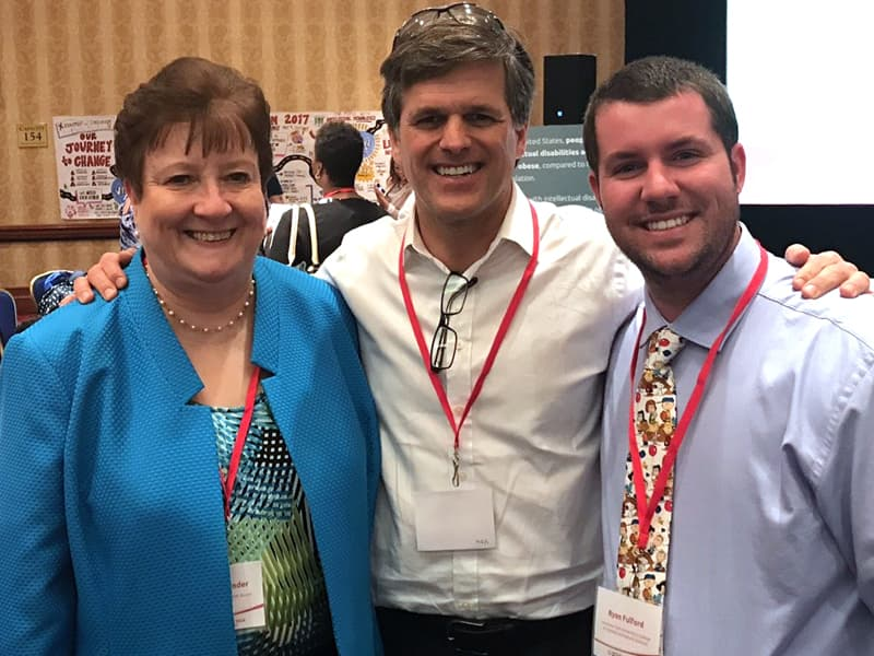 Pictured at the Inclusive Health Forum hosted by Special Olympics International are, from the left, Bender, Dr. Tim Shriver, chair of the SOI board, and Fulford.