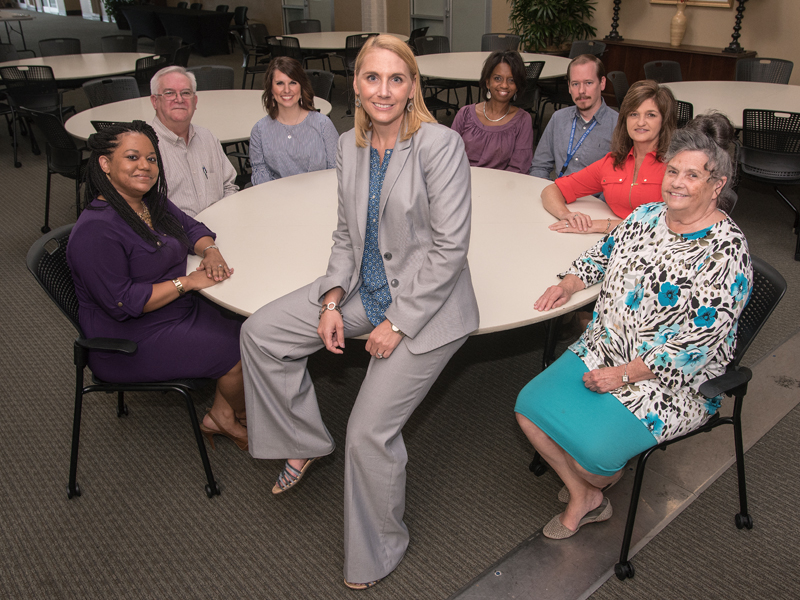 The CHPE team includes, from the left, Ashley Givens-Smith, Matt Lott, Kelly Dennis, Vicke Skinner, Kim Chaney, Bo Lewis, Cheryl Stingily and Kay Watkins.