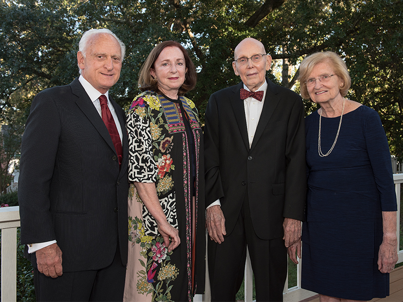 Drs. Frank and Ann Critz, from left, with Drs. Richard and Suzanne Miller, whom they honored with a $2 million gift used to establish chairs in the Millers' areas of specialty, surgery and pulmonology.