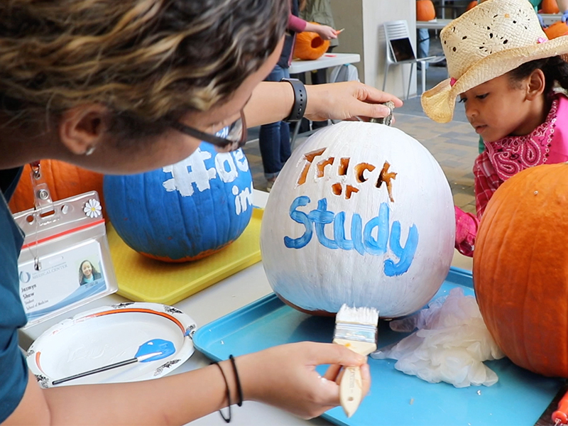 Video: Pumpkins serve as M1s' next patients