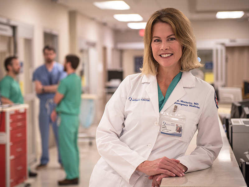 Dr. Risa Moriarity, associate professor of emergency medicine, and chair of the appointment, promotions and tenure committee for the School of Medicine.
