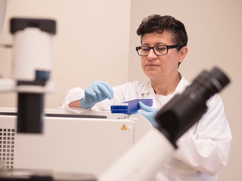 Dr. Norma Ojeda has been involved in basic science research at UMMC for several years. Now, she's sharpening her skills in clinical investigation.