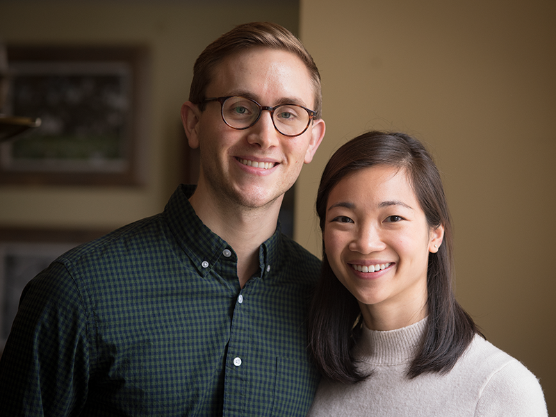 Alex Mullen and his wife Cathy Chen