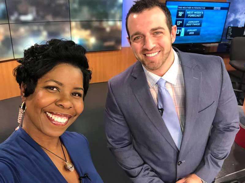 Sands, right, and Melissa Faith Payne anchor the 9 p.m. WLBT-Fox 40