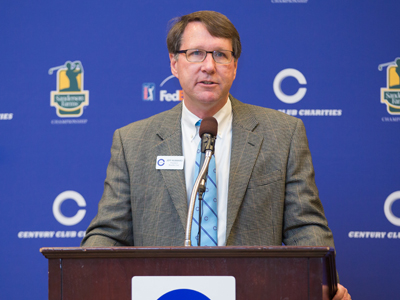 Century Club Charities President Jeff Hubbard announced a $1.2 million donation to Friends of Children's Hospital Friday. The host organization for the Sanderson Farms Championship raises funds for charities around the state.