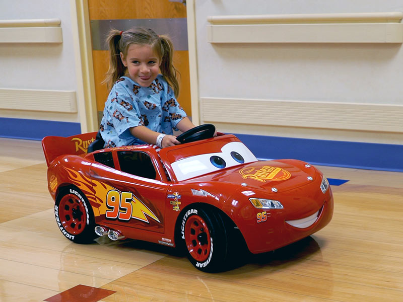 Video: Donation of little cars big boost for Batson patients