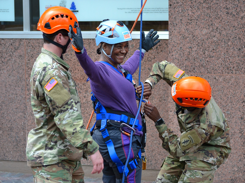 Photos: Fundraisers go 'Over The Edge' for Friends