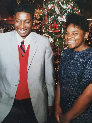 Lywanda White, right, is pictured with her father, the late Thomas Griffin, who adopted her when she was 13.