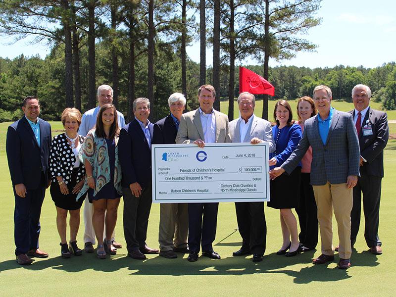 North Mississippi golf tournament drives $100K gift to
