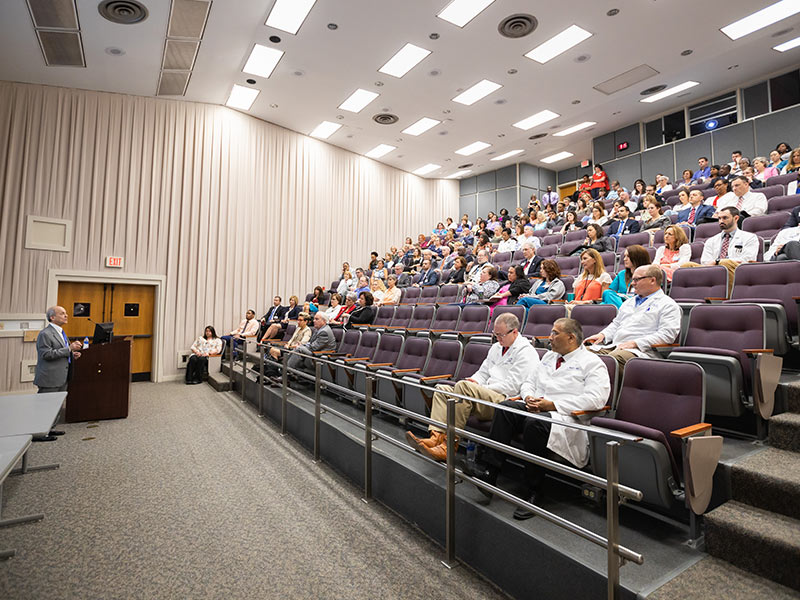 During his June 2018 visit, Chassin gives a Grand Rounds presentation.