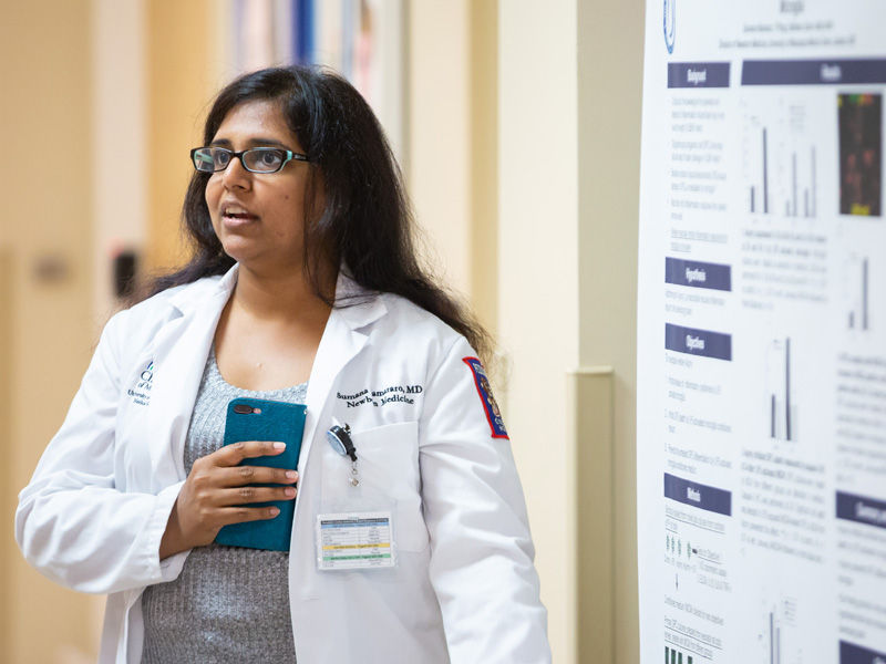 Dr. Sumana Ramarao discusses research in how a common antibiotic can reduce brain swelling in low-weight newborns.