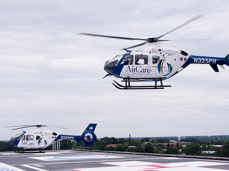 AirCare is a fleet of four medical transport helicopters owned and operated by the University of Mississippi Medical Center.