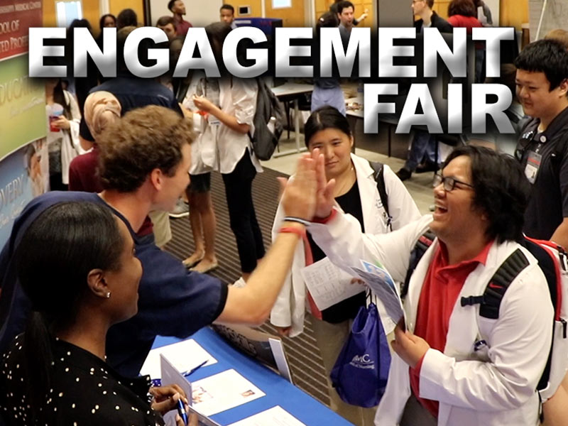 Video: All's fair during student welcome