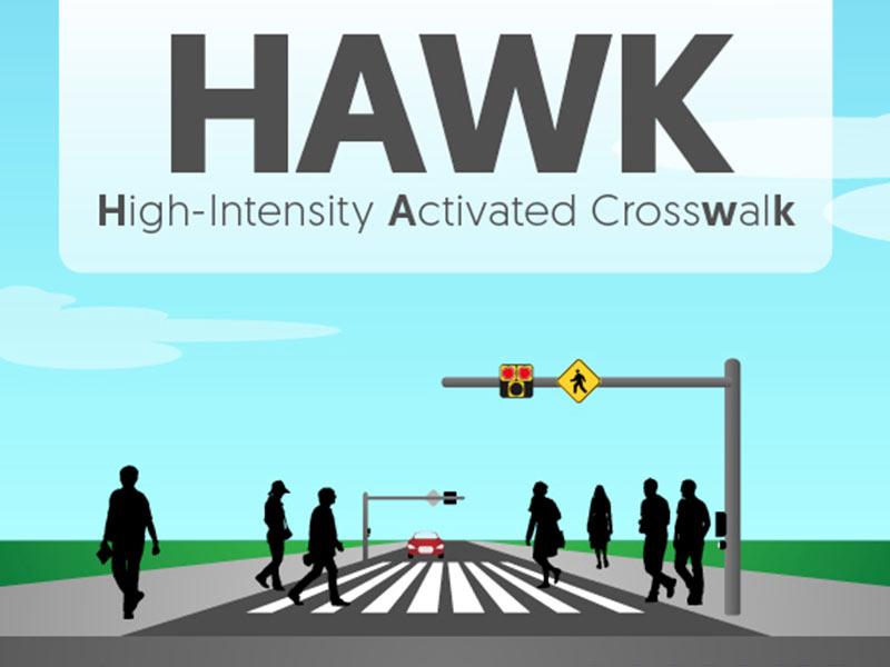 HAWK walk: Traffic signal helps pedestrians navigate State