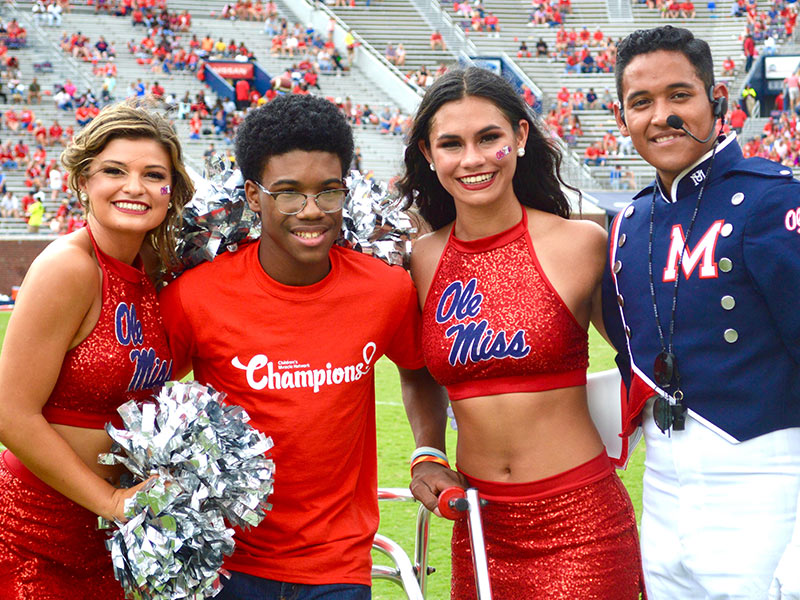 7361a018b1 Video: Ole Miss band spells out support for Batson - University of  Mississippi Medical Center