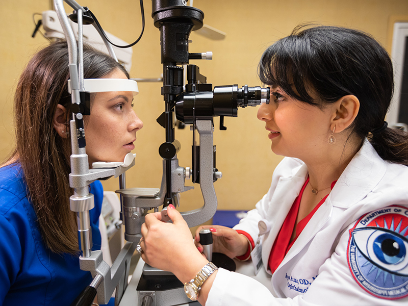 Medical Center's first staff optometrist looks forward to 'novel' opportunity
