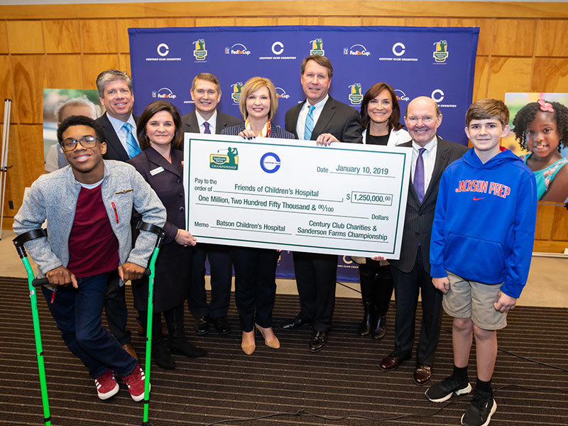 Sanderson Farms Championship host sets record with $1.25 M gift to Friends of Children's Hospital