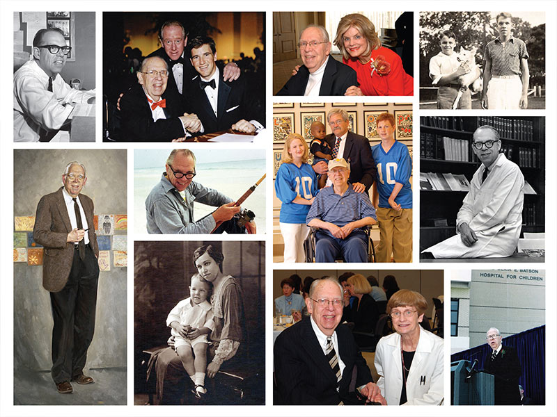 Indicating a life well lived, these photos trace Dr. Blair E. Batson from childhood to medical leader.