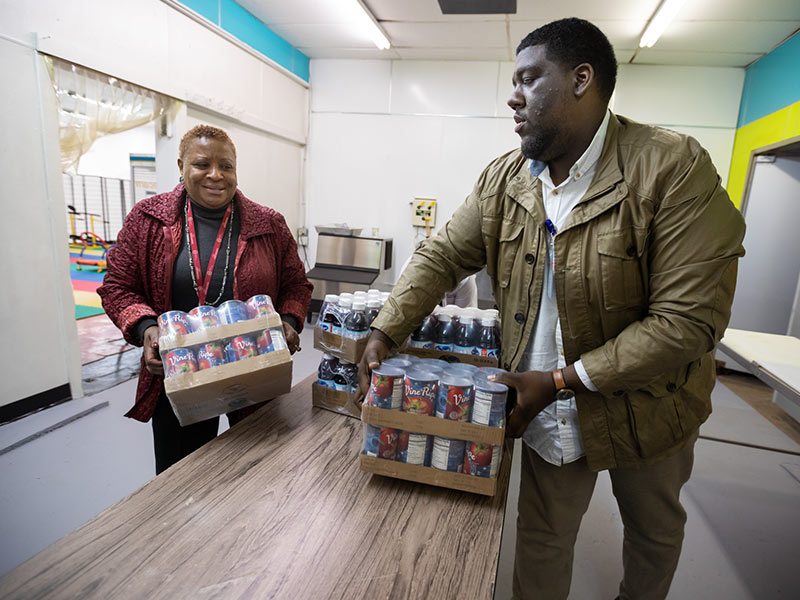 EversCare food pantry partnership helps feed patients in