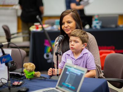 Children's of Mississippi patient Bentley Strickland and mom Cindy Strickland share their story during the Mississippi Miracles Radiothon.