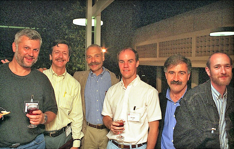In this composite photo, members of Dr. Ian Paul's research team include, from left, Dr. Gabriel Nowak Paul, Dr. Phil Skolnick, Dr. Rick Layer, Dr. Ramon Trullas and Dr. Piotr Popik.
