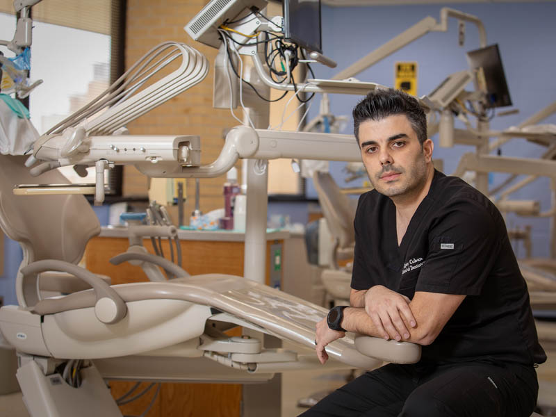 Fourth-year dental student Alper Coban will graduate in May with plans to practice at a friend and colleague's clinic in Texas.