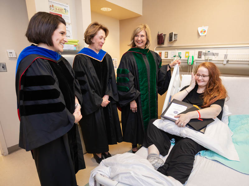 Illness keeps rad sciences student from Commencement, not graduation