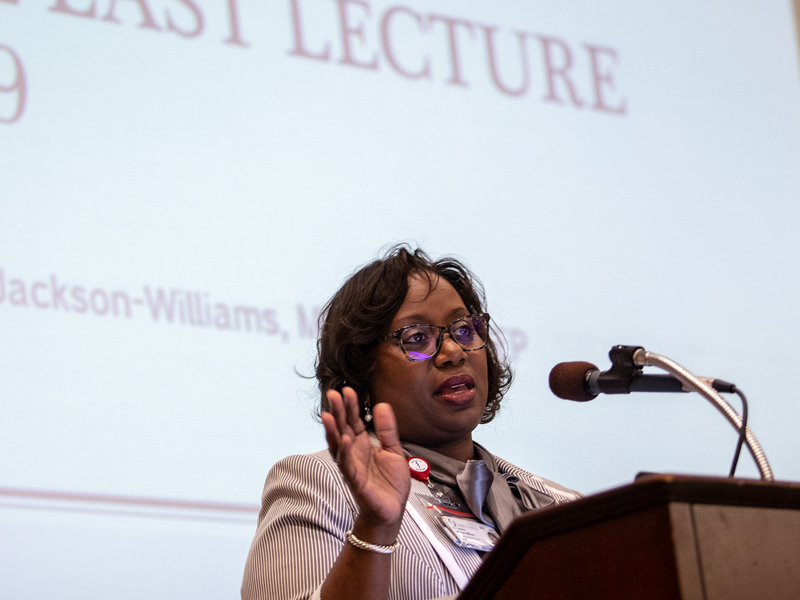 Dr. Loretta Jackson-Williams delivers her