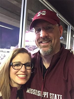 Hand and husband Phil Hartness are devoted Mississippi State University fans.