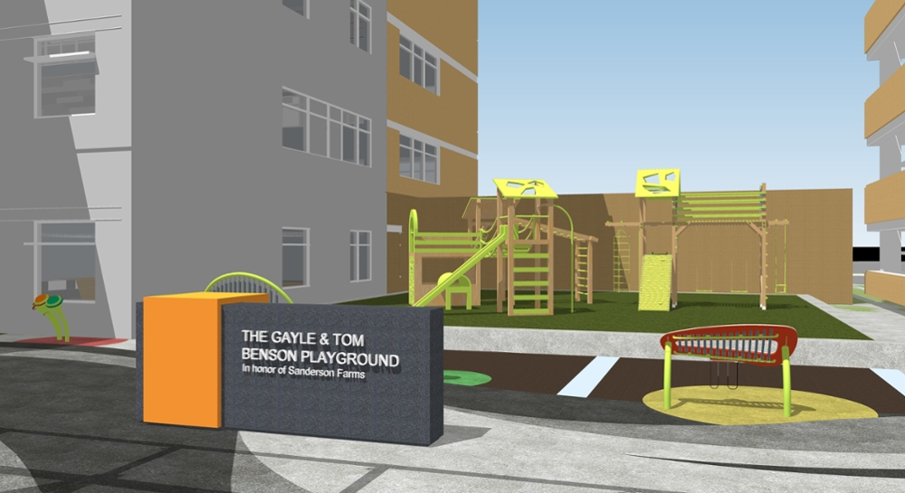 Artist rendering of playground