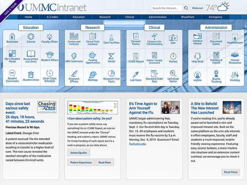 Dynamic New Intranet Site To Offer Information Portal To All