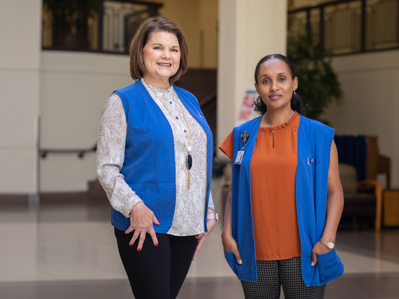 Tina Begley, left, and Meseret Lendi have been named the University of Mississippi Medical Center 2019 Volunteers of the Year.
