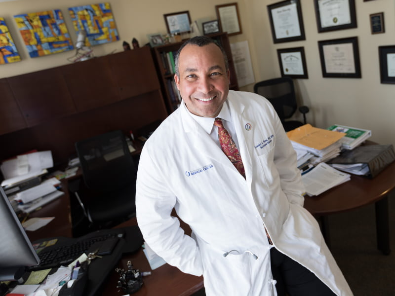 Dr. Leandro Mena is professor and chair of the Department of Population Health Science. He co-authored a paper illustrating the outsized impact of the COVID-19 pandemic on disproportionately black counties.
