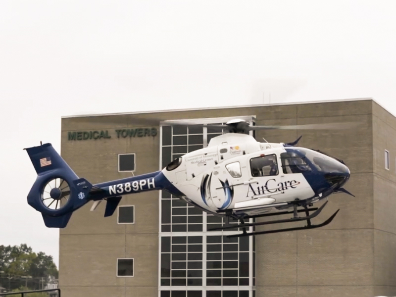 AirCare, the state's most advanced medical air transport, serves Anderson Regional Medical Center as part of an affiliation between ARMC and UMMC.