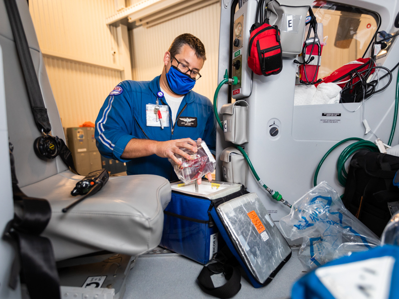 When seconds count, AirCare brings blood to critically ill patients