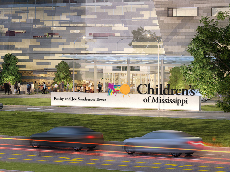 Children's of Mississippi names expansion after Sandersons