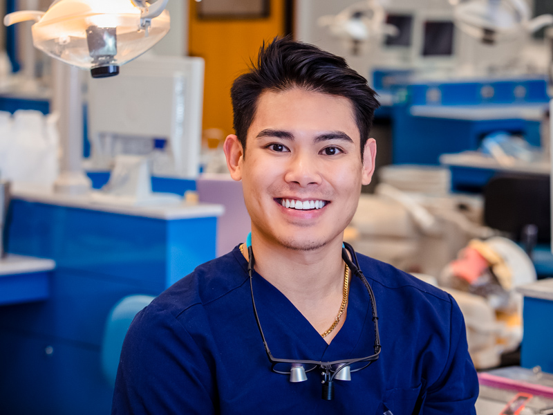 Hieu Vuong of Pass Christian is the sole male student in the School of Dentistry's dental hygiene program.