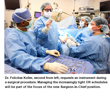 UMMC physicians in an operating room