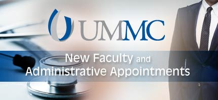 Anesthesiology expert, medical physicist, interventional radiology fellow join UMMC faculty