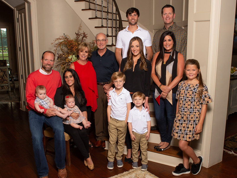 The Butts family includes, front row, from left, grandchildren Benton Felder, Stella Felder, Case Butts, Brooks Butts and Sadie Sutton; second row, Jeremy Felder, Stephanie Felder, Susie Butts, Lampkin Butts, Lauren Butts and Christie Sutton; and third row, Casey Butts and Trey Sutton.