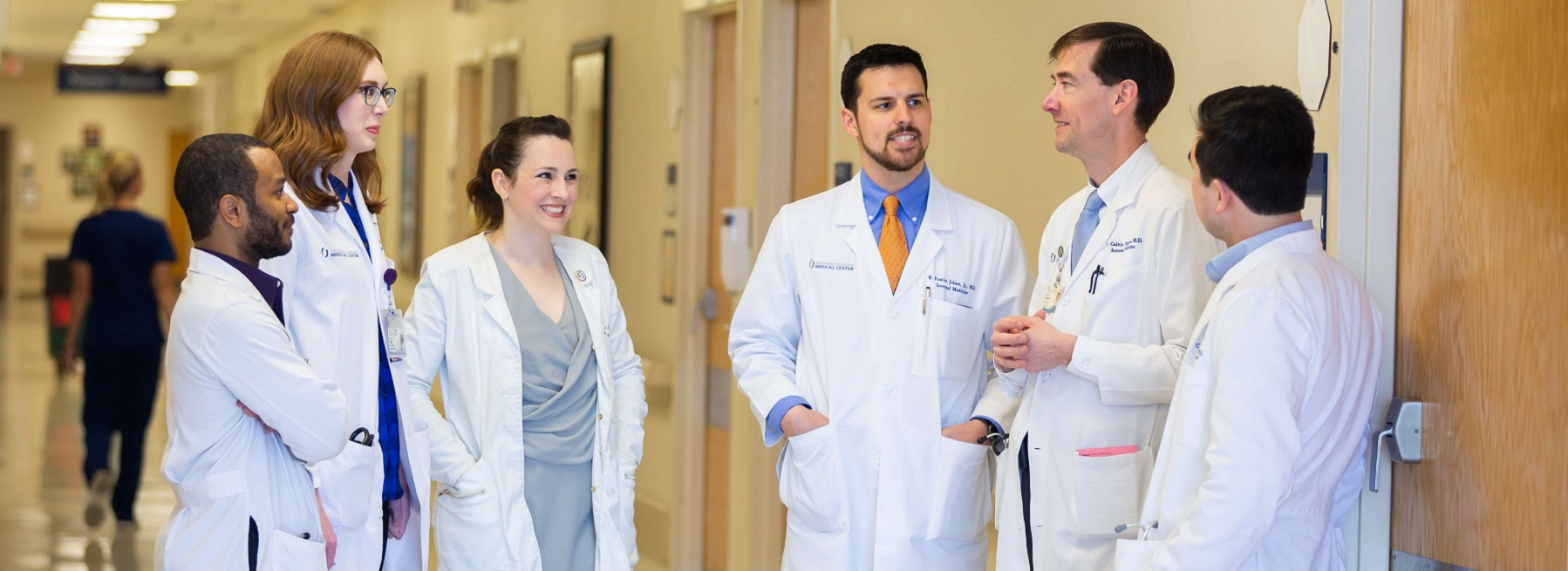 Residents and physicians make rounds at UMMC