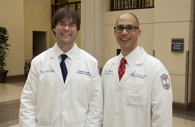 Dr. Matthew Graves, residency program director, and Dr. George Russell, department chairman